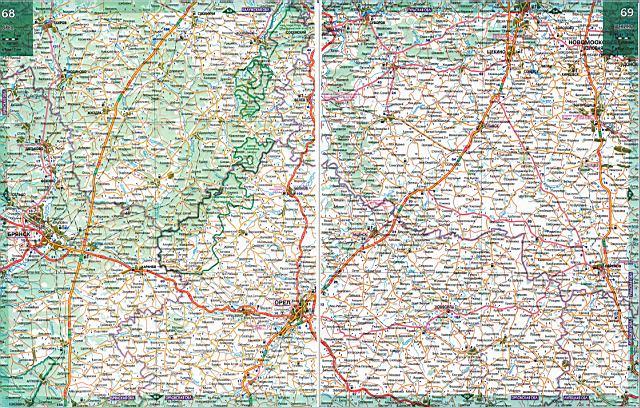 Дорог россии карта тульской области