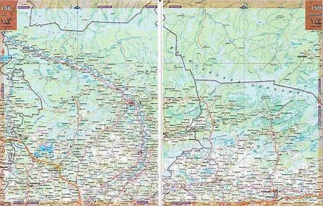 Карта автодорог - Томская