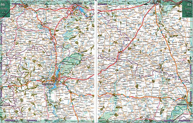 Подробная карта Тамбовской