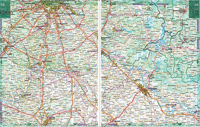 Карта автодорог - Рязанская