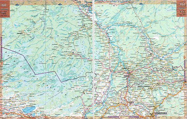 Карта дорог новосибирской