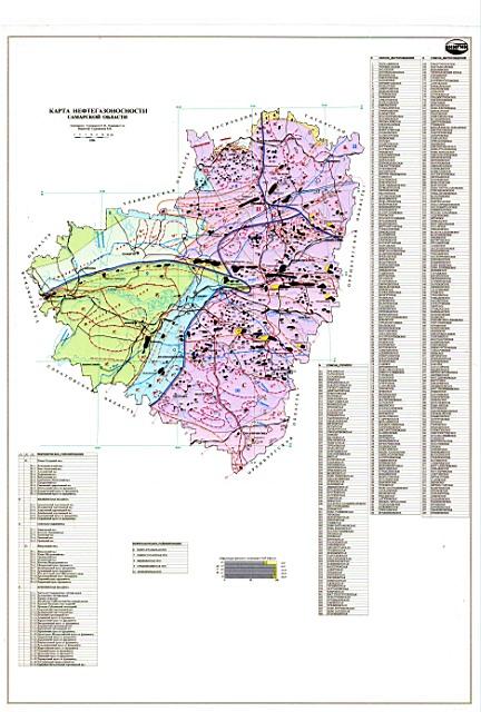 Карта нефтегазоносности