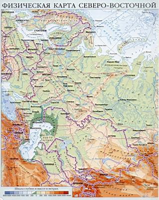Карта россии физическая карта россии